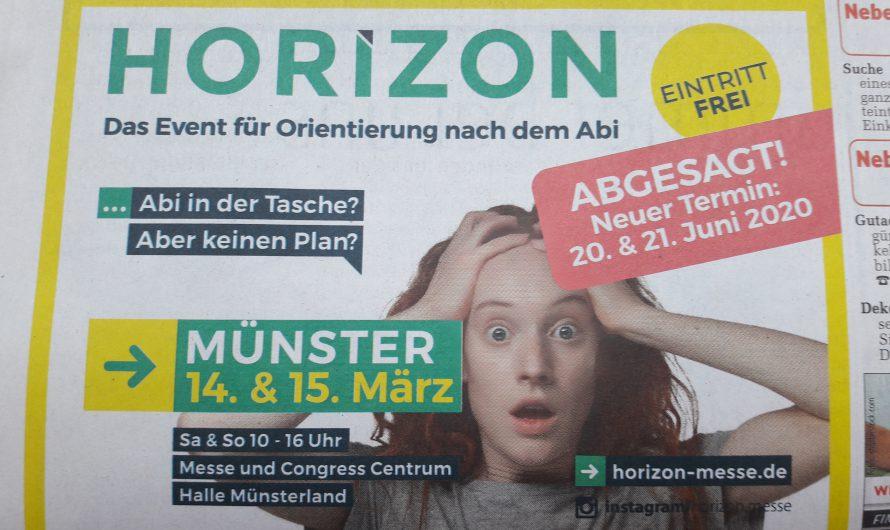 HORIZON Münster Verschoben auf den 20.21.Juni 2020(Messe und Congress Centrum Halle Münsterland Eintritt frei